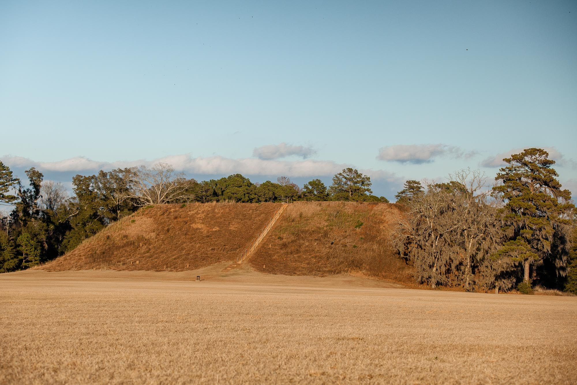 This Historically Significant Park Is The Oldest And Largest Woodland Indian Site In The Southeastern United States, Occupied By Indians From 350 To 750 A.D. Georgia's Oldest Great Temple Mound, Standing 57 Feet High, Dominates Two Smaller Burial Mounds And Several Ceremonial Mounds.